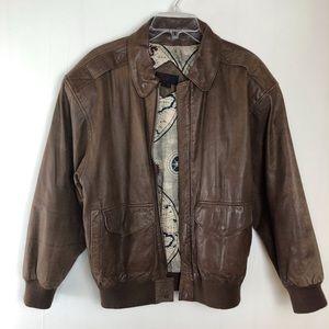 General Clothing Company Leather Pilot Jacket